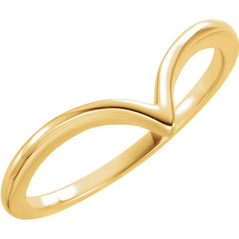 14kt Yellow Gold V Ring