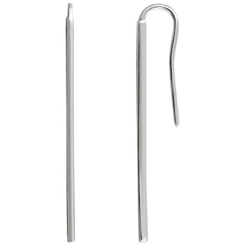 14kt White Gold Vertical Bar Earrings
