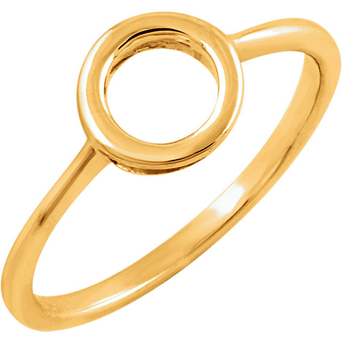 14kt Yellow Gold Open Circle Ring