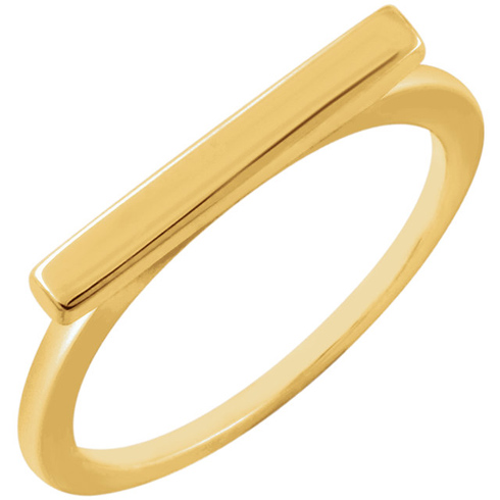14kt Yellow Gold Slender Bar Ring