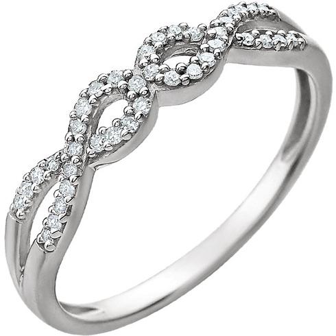 14kt White Gold 1/8 ct Diamond Split Loop Ring