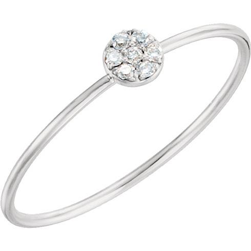 14kt White Gold .04 ct Diamond Circle Cluster Ring
