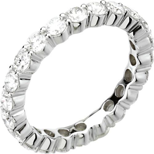 14kt White Gold 2 ct tw Diamond Eternity Band Size 7