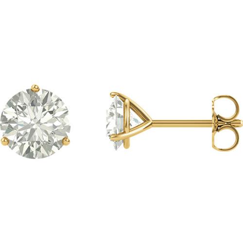 14kt Yellow Gold 2 ct tw Forever One Moissanite Martini Earrings