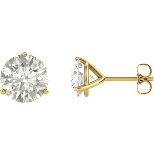 14kt Yellow Gold 4 Ct Tw Forever One Moissanite Martini