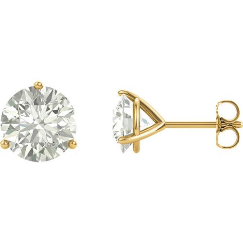 14kt Yellow Gold 4 ct tw Forever One Moissanite Martini Earrings