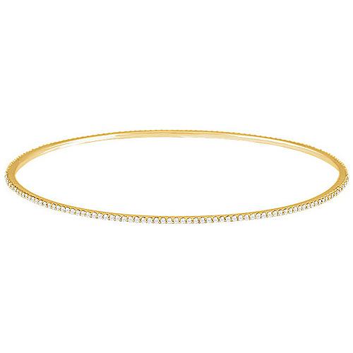 14kt Yellow Gold 1 ct Diamond Stackable Bangle Bracelet