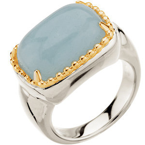7 1/2 ct tw Milky Aquamarine Ring - Sterling Silver