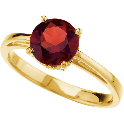 14kt Yellow Gold 1.65 ct Garnet Solitaire Ring