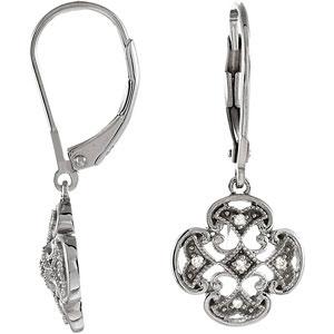 .07 ct tw Diamond Leverback Earrings
