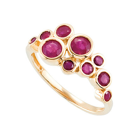 14kt Yellow Gold 1.4 CT Genuine Madagascar Ruby Ring