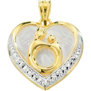 3/4in Mother & Child® Pendant with Rhodium Plating