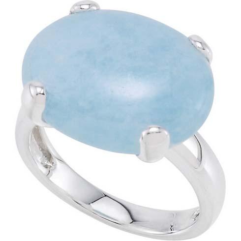 15.6 ct Milky Aquamarine Ring