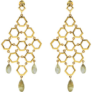 Missoma 18kt Gold Plated Labradorite Chandelier Earrings