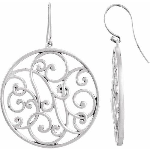 Sterling Silver 1/10 ct tw Diamond Roulez Earrings
