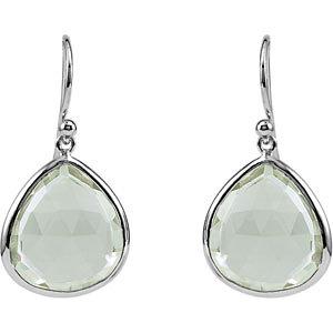 15 3/4 ct Green Quartz Earrings