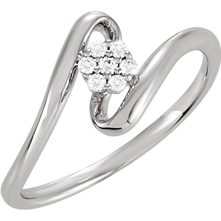 Sterling Silver Cluster Cubic Zirconia Ring