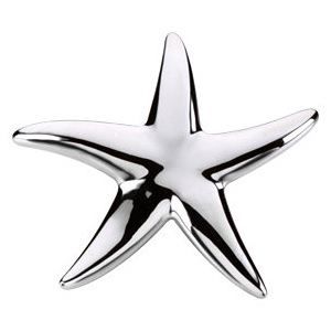 Sterling Silver 1 1/4in Starfish Pendant