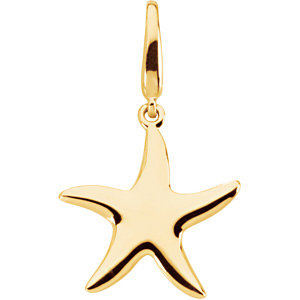 14kt Yellow Gold 5/8in Starfish Charm