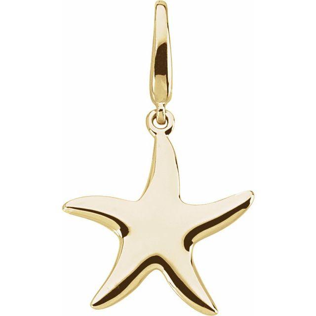 14kt Yellow Gold 5/8in Starfish Charm