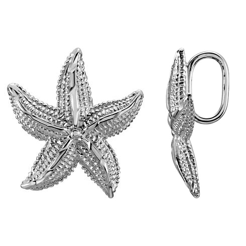 Sterling Silver 1in Starfish Pendant