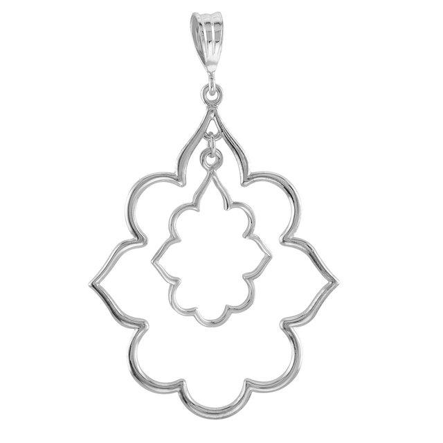 Sterling Silver 1 3/4in Byzantine Pendant