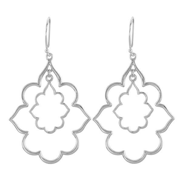 2in Sterling Silver Fashion Earrings