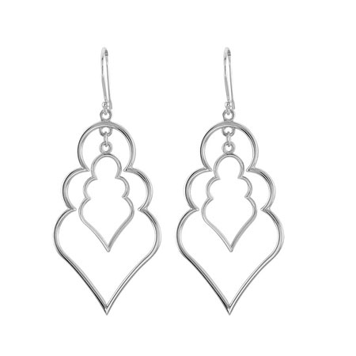 1 1/2in Sterling Silver Fashion Earrings