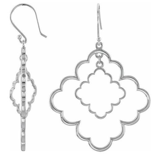 1 5/8in Sterling Silver Fashion Earrings