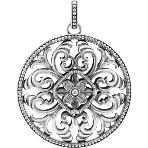 Sterling Silver Pendant by Galina Stoudenkina