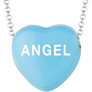 Sterling Silver Blue Angel Sweethearts 16in Necklace