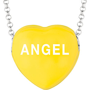 Sterling Silver Yellow Angel Sweethearts 16in Necklace