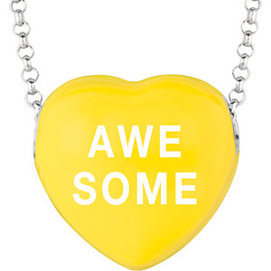 Sterling Silver Yellow Awesome Sweethearts 16in Necklace