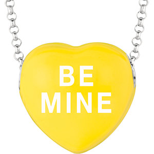 Sterling Silver Yellow Be Mine Sweethearts 16in Necklace