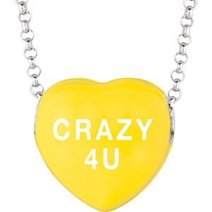 Sterling Silver Yellow Crazy 4 U Sweethearts 16in Necklace