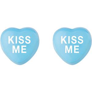 Sterling Silver Blue Kiss Me Sweethearts Earrings