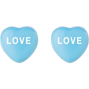 Sterling Silver Blue Love Sweethearts Earrings