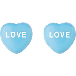 Sterling Silver Blue Love Sweethearts Earrings