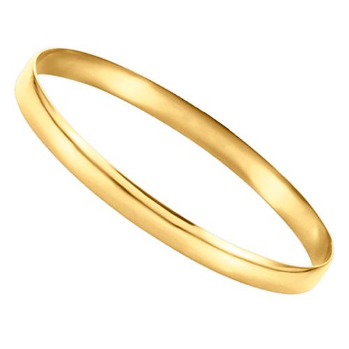 14kt Yellow Gold 6mm Half Round Bangle Bracelet