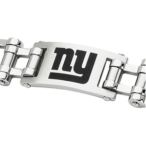 Stainless Steel 8in New York Giants ny Logo Bracelet