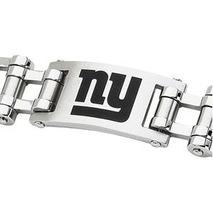 Stainless Steel 8in New York Giants ny Logo Bracelet