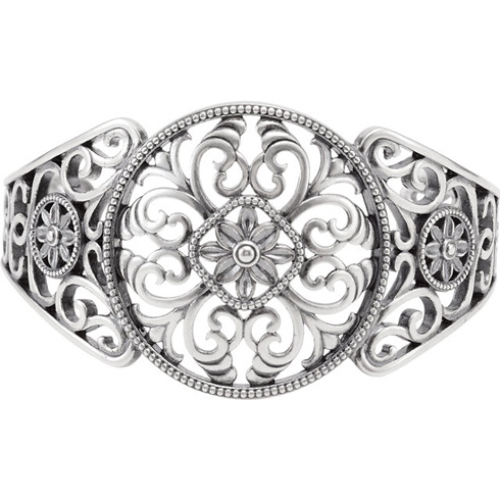 Sterling Silver Cuff Bracelet by Galina Stoudenkina