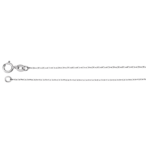 14kt White Gold 16in Rope Chain .75mm