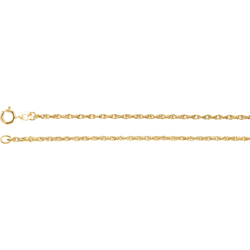 14kt Yellow Gold 16in Rope Chain 1.5mm