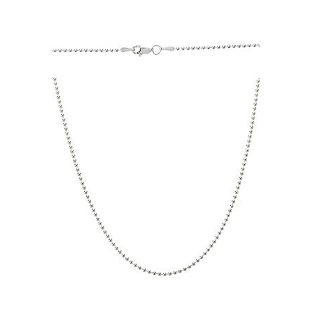 Sterling Silver 16in Bead Chain 1.5mm