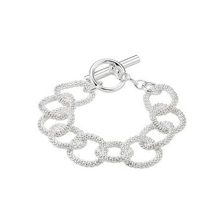 Sterling Silver 8in Mesh Link Bracelet