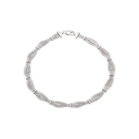7 1/2in Sterling Silver Braided Mesh Bracelet