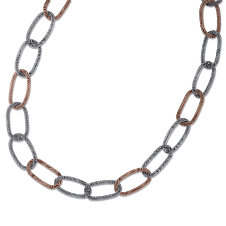 36in Steel Mesh Necklace with Rose Gold Bonded Plating