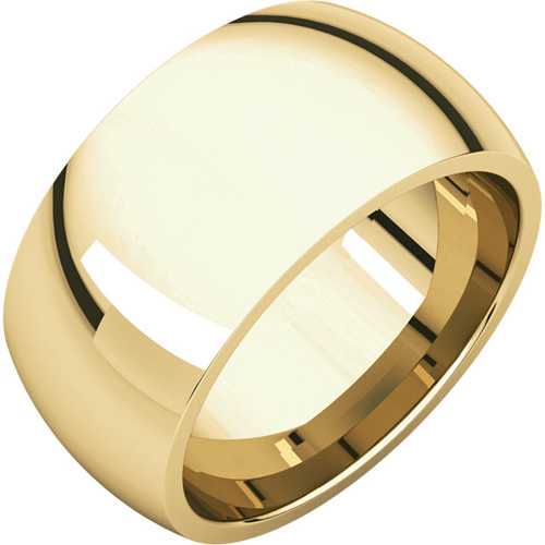 14kt Yellow Gold 10mm Comfort Fit Wedding Band