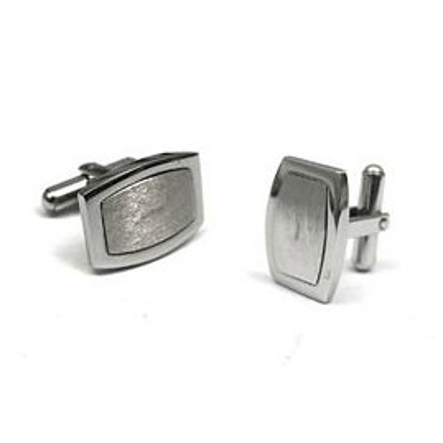 Oblong Stainless Steel Cufflinks